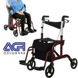 Folding Transport Chair and Rollator All in One Medical Walk