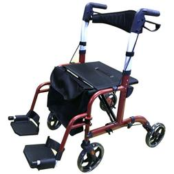 Fold Rollator Walker Drive Medical Seat Back 4 Wheel LightWe