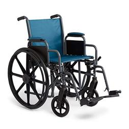 Medline Folding Wheelchair with Desk-Length Arms and Swing-A