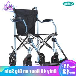Cofoe <font><b>Wheelchair</b></font> Folding Transport Wheel
