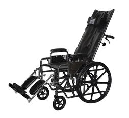 "ProBasics Full Reclining Wheelchair, 22"" Seat with Leg Rests"