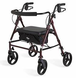 "Medline Heavy Duty Bariatric Mobility Rollator with 8"" Del"