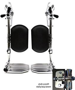 Heavy Duty Chrome Wheelchair Legrests with Aluminum Footplat