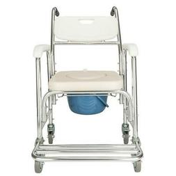 Heavy Duty Commode Wheelchair Bedside Commode Shower Toilet