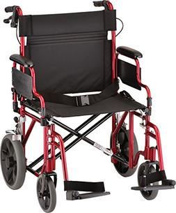 "NOVA Extra Wide 22"" Heavy Duty Transport Chair with Lockin"
