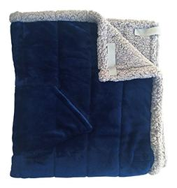 Granny Jo Products Heavyweight Wheelchair Blanket, Navy Face