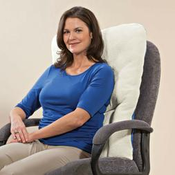 High Back Sherpa Comfort Back Support Pillow Recliner Wheel