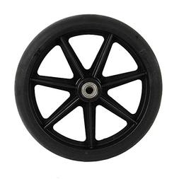 8 inch by 1 inch Black Replacement Wheel For Wheelchairs, Ro