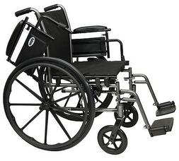 "ProBasics Invacare Flip Back Arm 20"" Lightweight Wheelchair,"