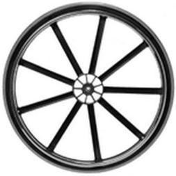 Invacare Wheel Assembly, 24 x 1 Inch, 9-Spoke Black Mag, Ure