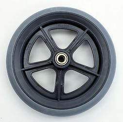 """Invacare Wheelchair Parts 8"""" Front Caster 7/16"""" Grey Tire C8"""