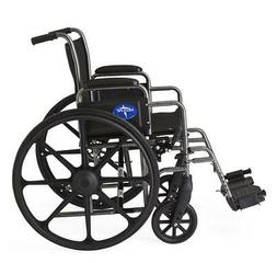 "Medline K1 Basic 18"" Seat Width, 16"" Seat Depth Wheelchair -"