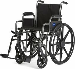 "Medline K1 Basic Swing Away Foot Wheelchairs 18"" 18 Inch Wid"