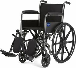 Medline K1 Basic Wheelchairs Full-Length Arms Elevating Leg