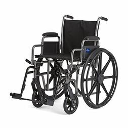 Medline Strong and Sturdy Wheelchair with Desk-Length Arms a