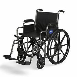 "Medline K2 Basic Wheelchair with 20""x16"" Seat, Swing Away Fo"