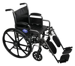 """Medline K2 Basic Wheelchair with 18""""Wx16""""D Seat, Elevating L"""