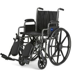 Medline K2 Basic Wheelchair with 18Wx16D Seat - Elevating Le