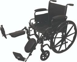 "ProBasics K2 Manual Wheelchair, Hemi, ELR, 18"" Wide Seat, Fl"