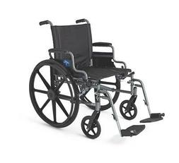 "Medline K4 Basic Lightweight Wheelchair with 16""Wx16""D Seat,"