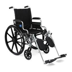 MEDLINE K4 Basic Lightweight Wheelchair,Black,24.000 1 Each