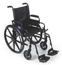 "Medline K4 Extra-Wide Lightweight Wheelchair, 22""Wx18""D Seat"