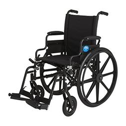 Medline Premium Ultra-lightweight Wheelchair with Flip-Back