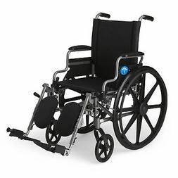 Medline Lightweight and User-Friendly Wheelchair with Flip-B