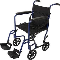 "ProBasics Aluminum Transport Wheelchair - 19"" Wheel Chair"