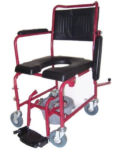 MedMobile® Commode/Shower Wheelchair with Rear Detachable and Commode