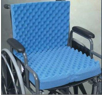 Complete in. 32 x 3 Eggcrate Wheelchair with