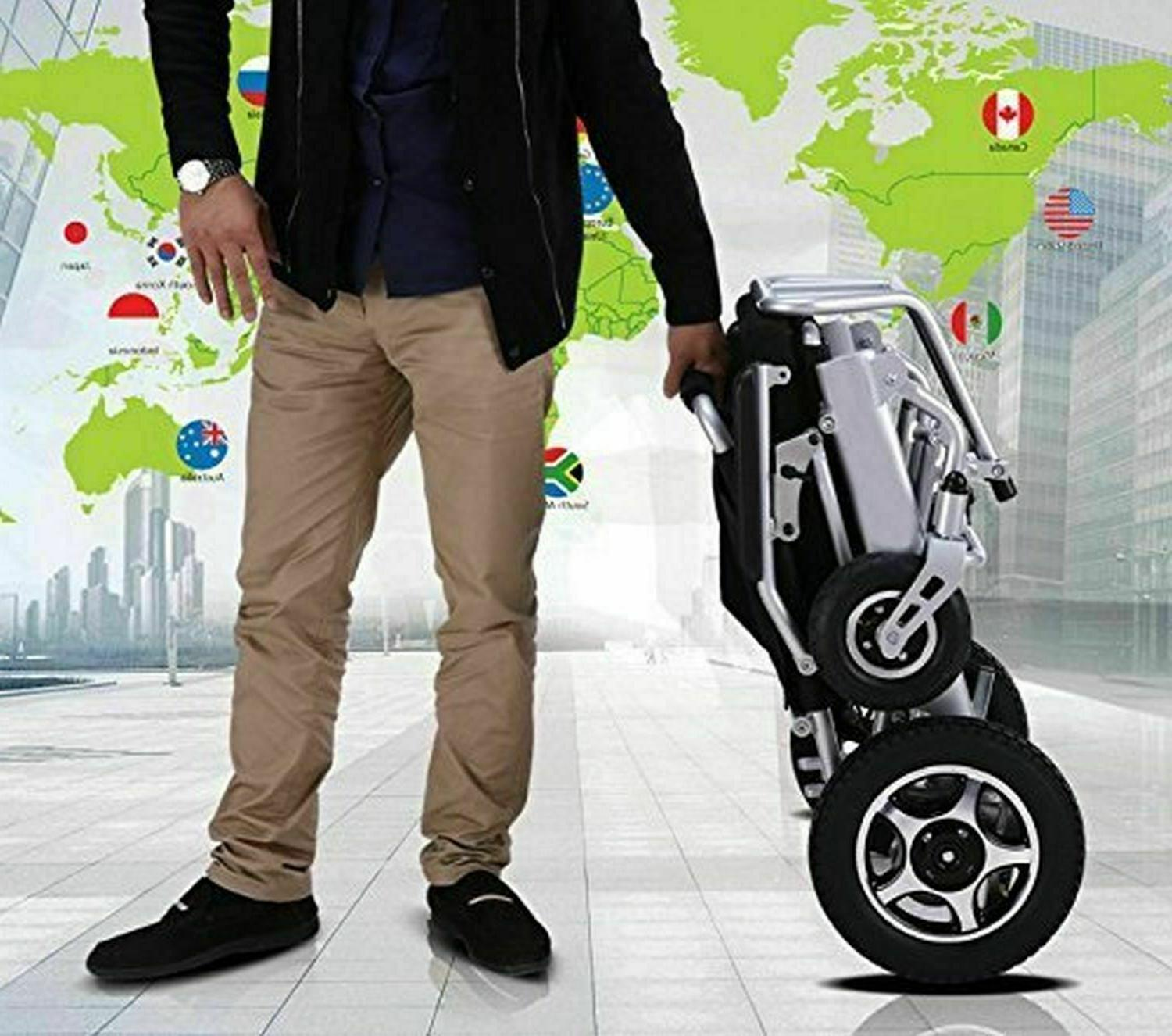 Air Travel Lightweight Fold Electric Power Wheelchair Power