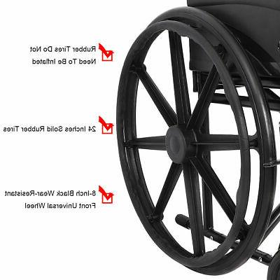 Goplus 24'' Medical Wheelchair w/ FDA