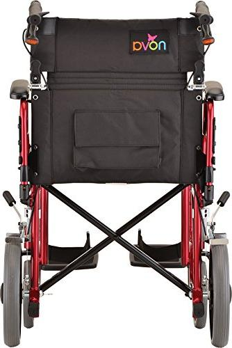 """NOVA Lightweight 12"""" Rear Up Arms Transfer, Anti-Tippers Included, Red"""