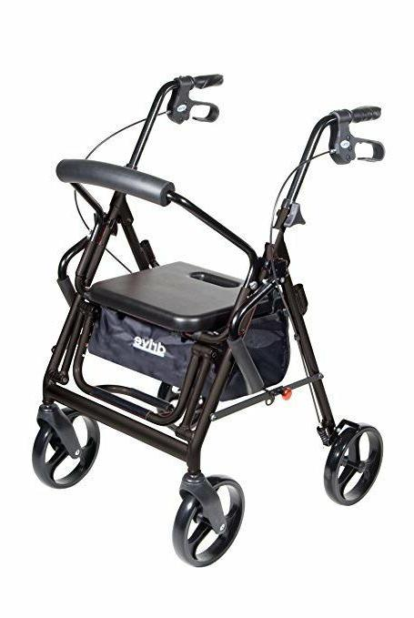 795BU - Duet Dual Function Transport Wheelchair Walker Rolla