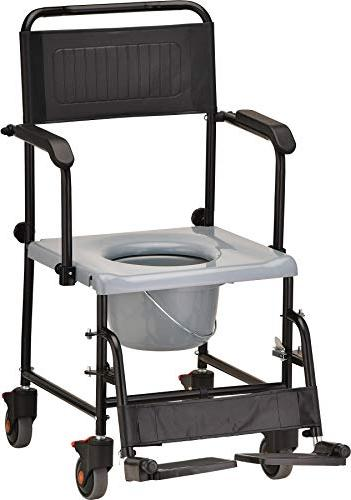 NOVA 8805 Drop Chair Commode, Wheels Removable Padded Seat