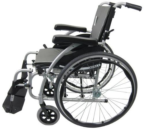 Karman S-Ergo115F20RS 115 in. Ultra Lightweight Wheelchair with Swing in Red