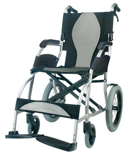 Karman Healthcare S-2501 Ultra Transport Chair, Pearl 18 Seat