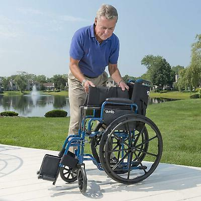 "Blue Wheelchair Back Away 18"" Medical"