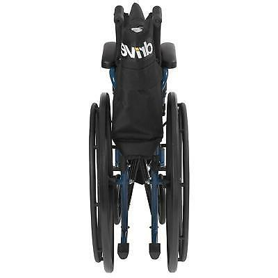 Blue Wheelchair Back Desk Arms Away Medical