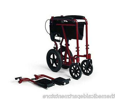 Medline Deluxe Wheelchair Brakes, Red, 1