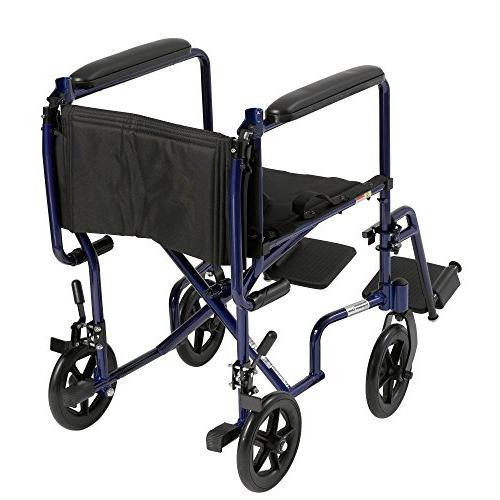 Drive Aluminum Transport Wheelchair, 17""