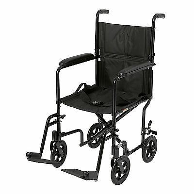 Drive Medical Deluxe Lightweight Aluminum Transport Wheelcha