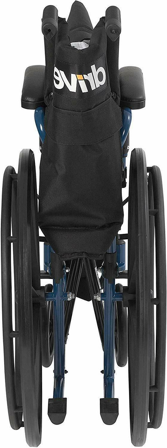 Drive Medical Blue Wheelchair with Flip Desk Swing Away