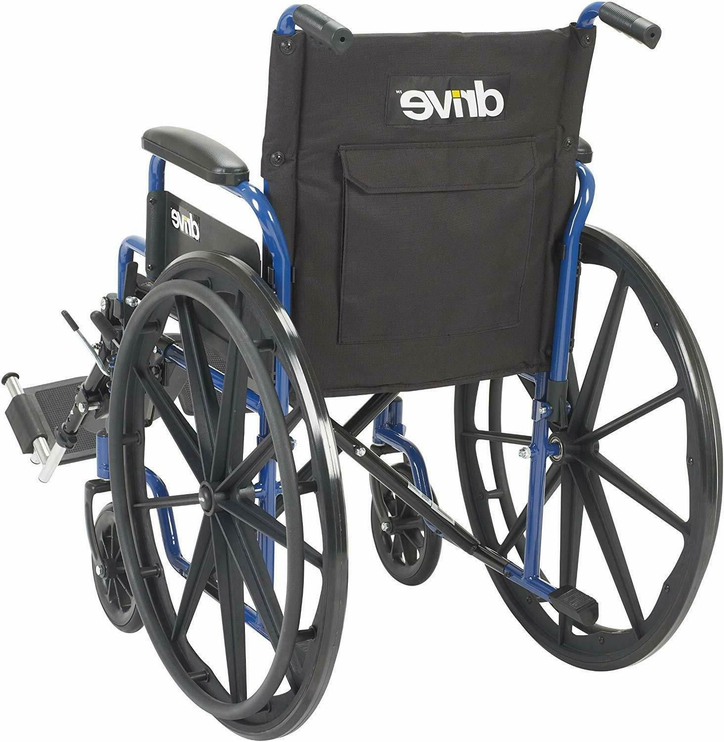 Drive Medical Wheelchair with Back Desk Arms, Swing