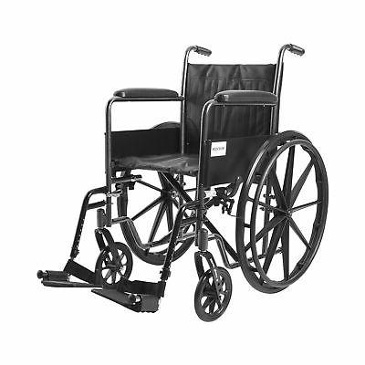 McKesson Drive Wheelchair Standard Fixed Arms Composite Blac