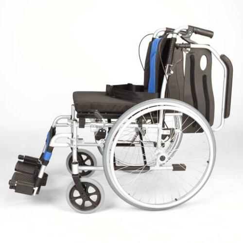 Lightweight extra wide self propelled wheelchair brakes ECSP01-20