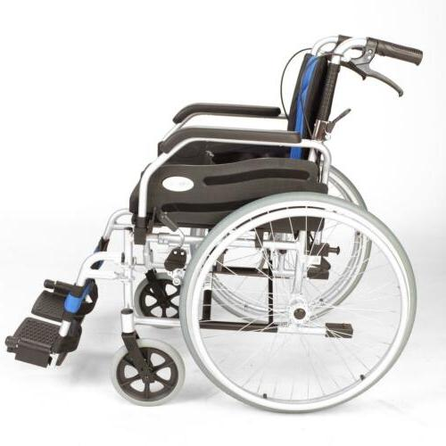 Lightweight folding self propelled wheelchair hand brakes ECSP01-20