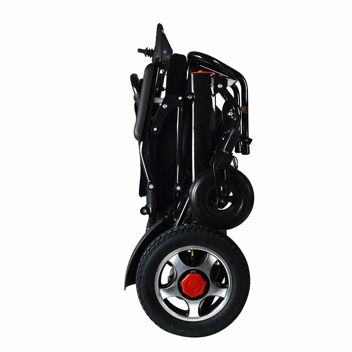 Electric Power Wheelchair Lightweight Medical Mobility Aid Motorized