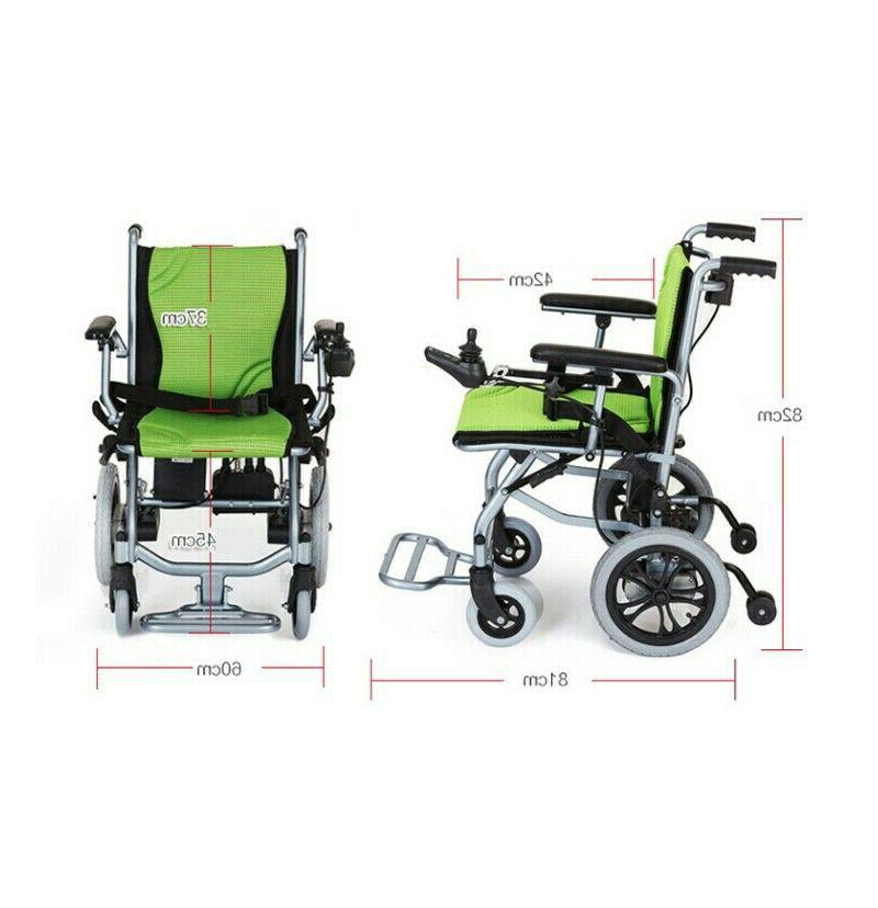 Foldable Lightweight Power Wheelchair Mobility Motorized